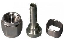 Racor para conector de gas y producto - 8 mm