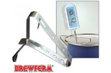 Clip de acero inoxidable para sujección de termometros.