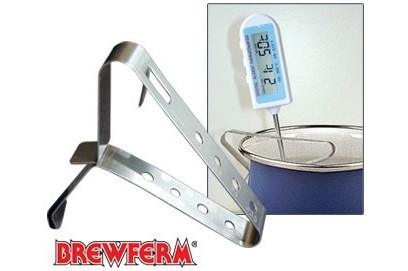 Clip de acero inoxidable para sujeccion de termometros.