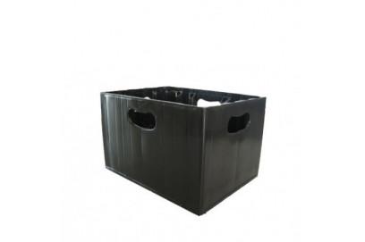 Caja de plastico para botellas de 33cl.
