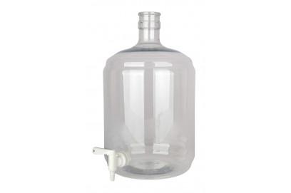 Damajuana PET 12 litros con grifo.