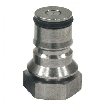 Valvula acero inox. salida liquidos para barril cornelius