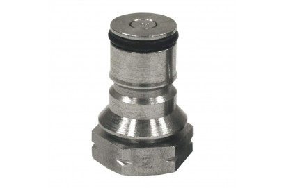 Valvula acero inox. entrada gas para barril cornelius