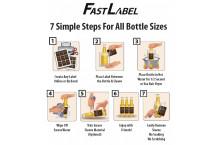 Bolsas para etiquetas FastLabel - botellas 750ml. Vino y Cerveza. 50 unidades.
