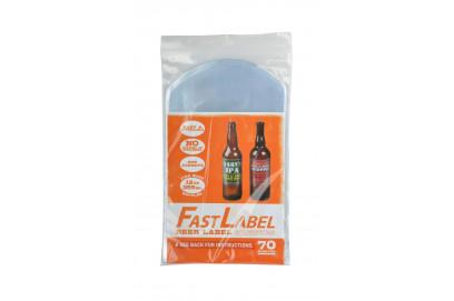 Bolsas para etiquetas FastLabel - botellas 33cl. Cerveza. 70 unidades.