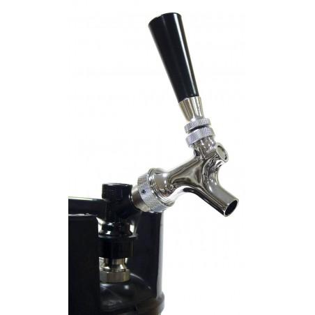 Grifo Cromado de cerveza con adaptador de toma rapida.