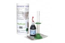 Kit para medir la acidez de vinos.