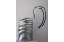 Serpentín de enfriado de acero inoxidable. 10-15 litros
