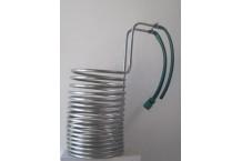 Serpentín de enfriado de acero inoxidable. 50 litros