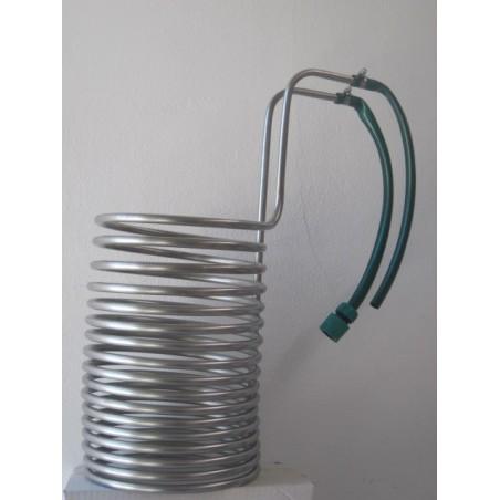 Serpentin de enfriado de acero inoxidable. 50 litros