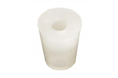 Tapon de Silicona 17/22 mm con agujero de 9 mm.