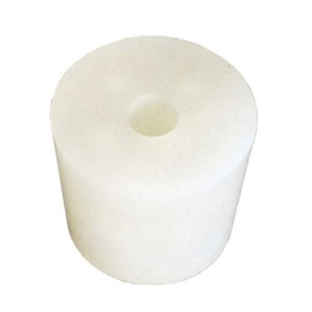 Tapon de silicona con agujero Nº 10