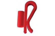 Clip sujeta-sifones y tubos - ROJO