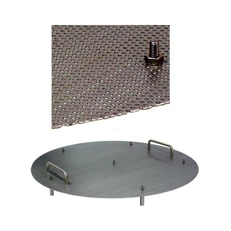 Chapa perforada para doble fondo de macerador y/o hervido