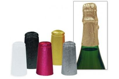 Capsulas de Aluminio Doradas para Cerveza. 25 unidades