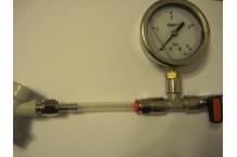 Valvula de purga y manometro para barriles cornelius